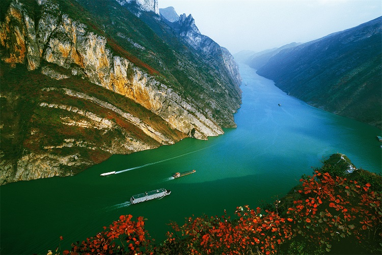 wu-gorge in autumn